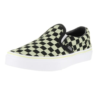 Vans Kids' Classic Slip-on Glow Check Black/True White Skate Shoe