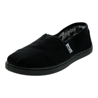 Toms Kids Classics Youth Black Canvas Casual Shoe