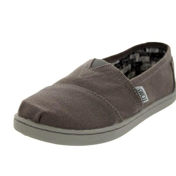 a4f592a939ef Shop Toms Kids  Classics Ash Grey Canvas Casual Shoes - Free ...