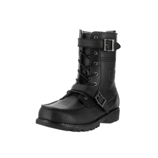 Polo Ralph Lauren Kids' Radbourne Black Leather Mid-calf Boots
