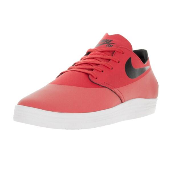 be3226ace4c3 Shop Nike Men s Lunar Oneshot Lt Crimson Black Skate Shoe - Free ...