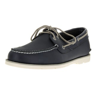 Sperry Top-Sider Men's Leeward 2-Eye Wide Navy Boat Shoe