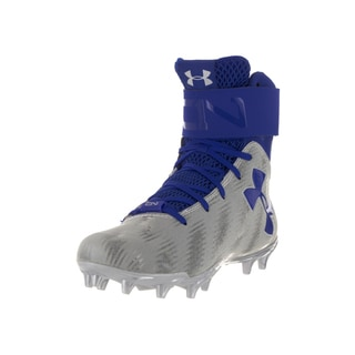 Under Armour Kids' UA C1N MC Junior Blue and White Plastic Football Cleats