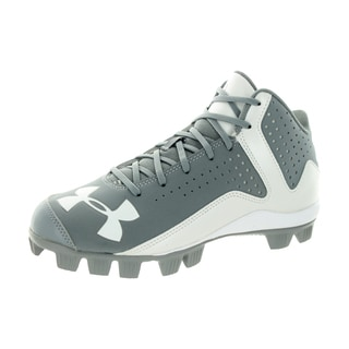 Under Armour Kids UA Leadoff Mid Rm Jr. Grey/White Baseball Cleats