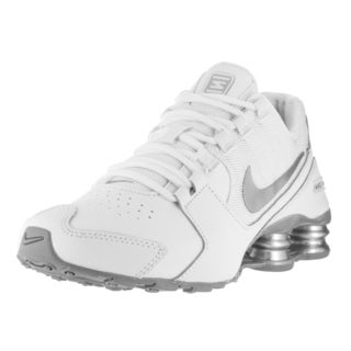 Nike Kids Shox Avenue (GS) White/Metallic Silver Running Shoes