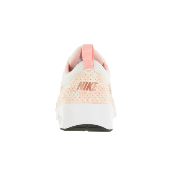 Shop Nike Kids' Air Max Thea Print (GS) White and Pink