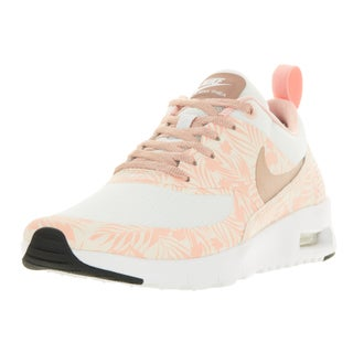 Nike Kids' Air Max Thea Print (GS) White and Pink Plastic Running Shoes