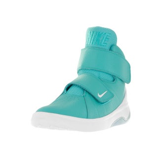 Nike Kids' Marxman Hyper Jade and White Synthetic Leather Basketball Shoes