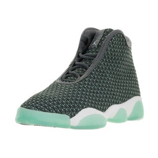Nike Jordan Kids' Jordan Horizon BG Dark Grey, White, and Turquoise Textile Basketball Shoes