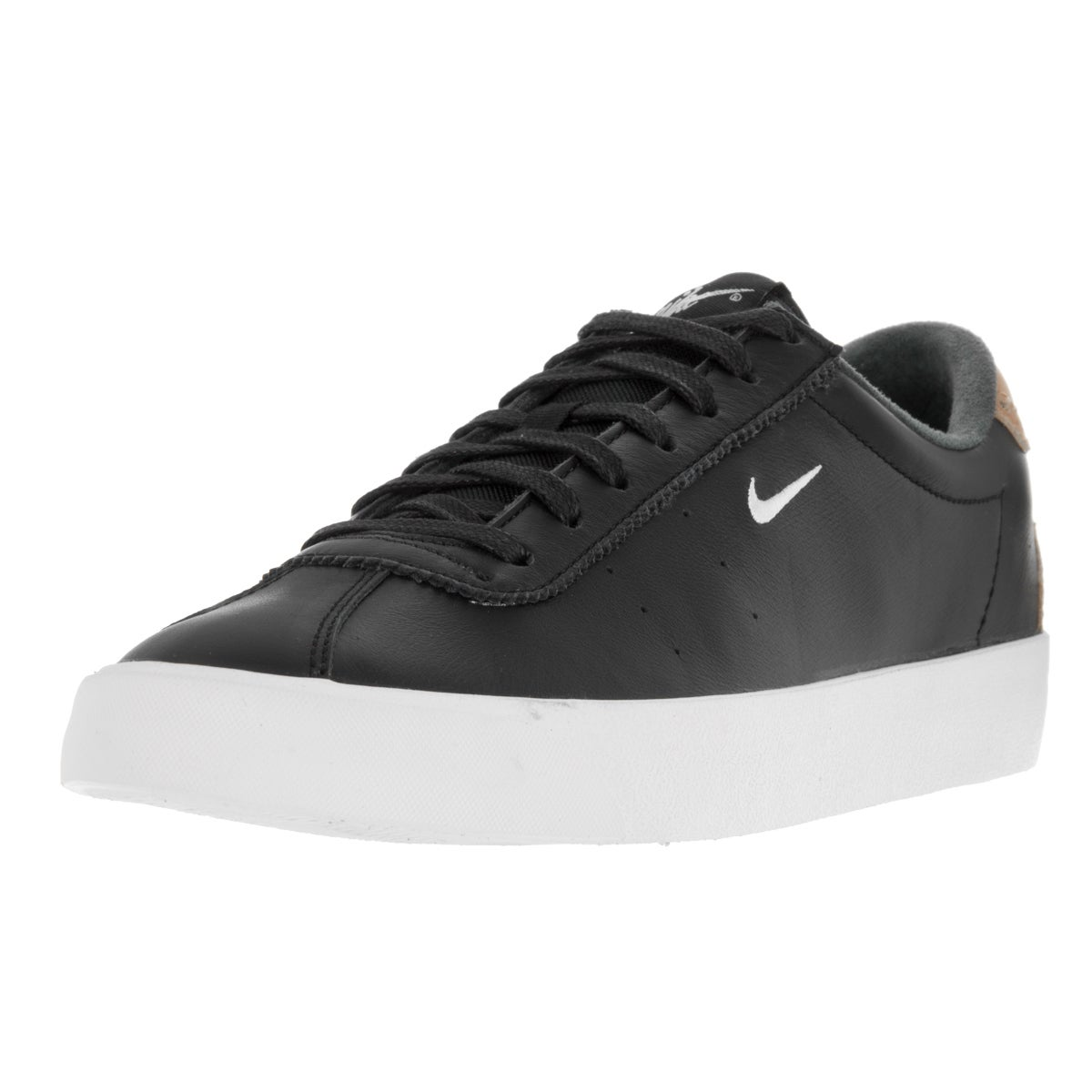 Nike Men's Match Classic Suede Black Leather Tennis Shoe (8)