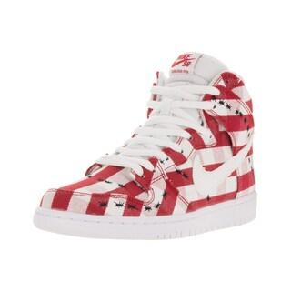 Nike Men's Dunk High Pro SB University Red/White Textile Skate Shoes