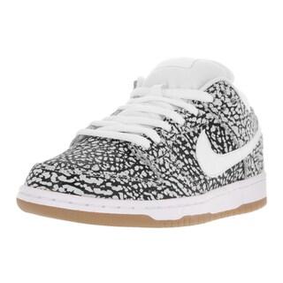 Nike Men's Dunk Low Premium SB White Leather Skate Shoe