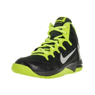 Nike Kids' Air Without A Doubt (PS) Black/Metallic Silver/Volt Basketball Shoes