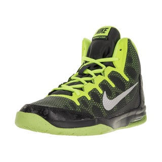 Nike Kids' Air Without a Doubt Black, Metallic Silver, and Volt Yellow Synthetic Basketball Shoes
