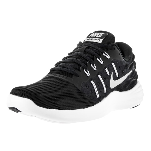 best sneakers 0c5fc 30ae8 Nike Men  x27 s Lunarstelos Black Mtllc Silver Anthrct Wht Running
