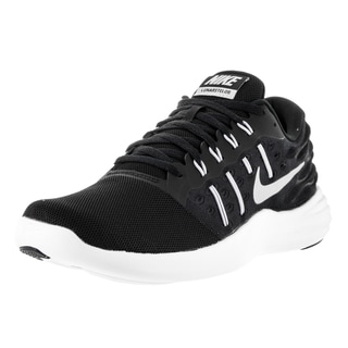 Nike Men's Lunarstelos Black/Mtllc Silver/Anthrct/Wht Running Shoe