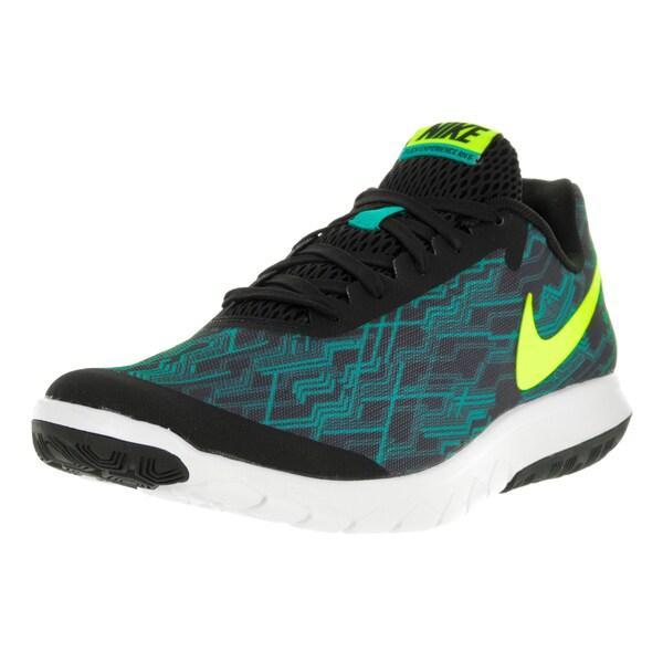405d18faab7b46 ... Men s Athletic Shoes. Nike Men  x27 s Flex Experience Rn 5 Prem Black  Volt Clear