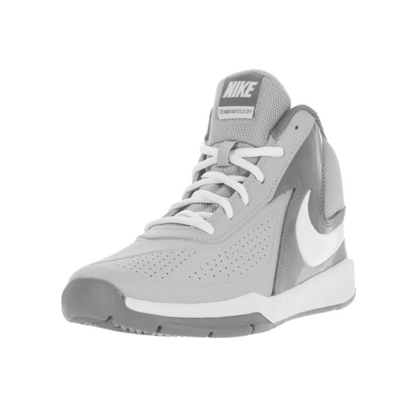 save off f9828 a4083 Nike Kids  x27  Team Hustle D 7 (GS) Wolf Grey, White