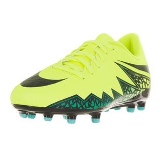 Nike Kids' Jr. Hypervenom Phelon II Volt Yellow, Black, Hyper Turqouise, and Clear Jade Synthetic Soccer Cleats