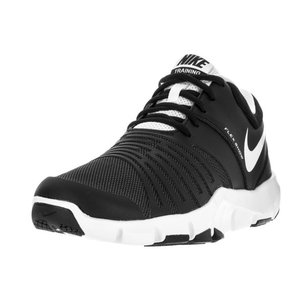 d5835c049e689 Shop Nike Men s Flex Show Tr 5 Black White Pure Platinum Training ...
