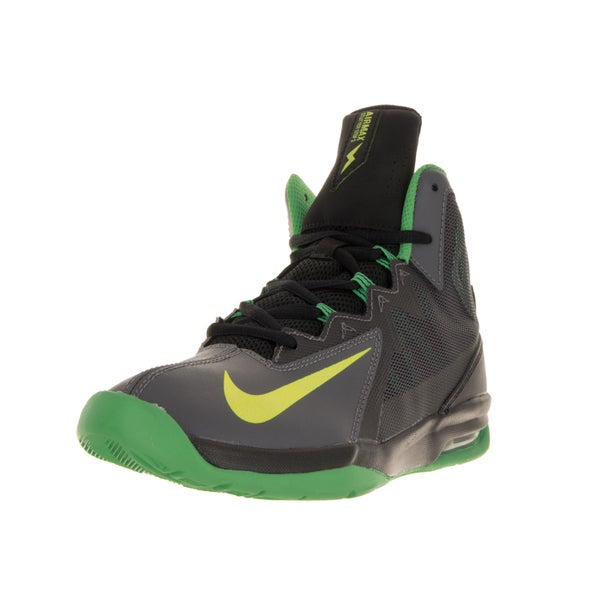 new products efb93 cbbfb Nike Kids Air Max Stutter Step 2 Boys  x27  Grey and Green Basketball Shoe