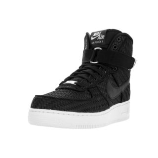 Nike Men's Air Force 1 High '07 LV8 Woven Black/Black White Basketball Shoe