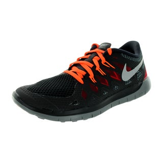 Nike Kids Free 5.0 Black and Orange Synthetic Mesh Running Shoes