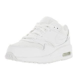 Nike Kids Air Max 1 White/White Plastic Sole Running Shoe