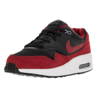 Nike Kid's Air Max 1 PS Black/Gym Red/White/Cool Grey Synthetic Leather Running Shoes