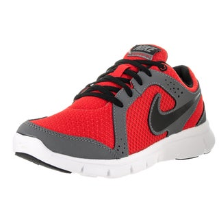 Nike Kids' Flex Experience (GS) Red, Grey, Black, and White Plastic Running Shoes