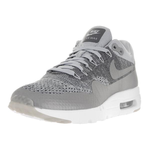 c11f24a50ab Shop Nike Men s Air Max 1 Ultra Flyknit Wolf Grey Wlf Grey Drk Gry ...