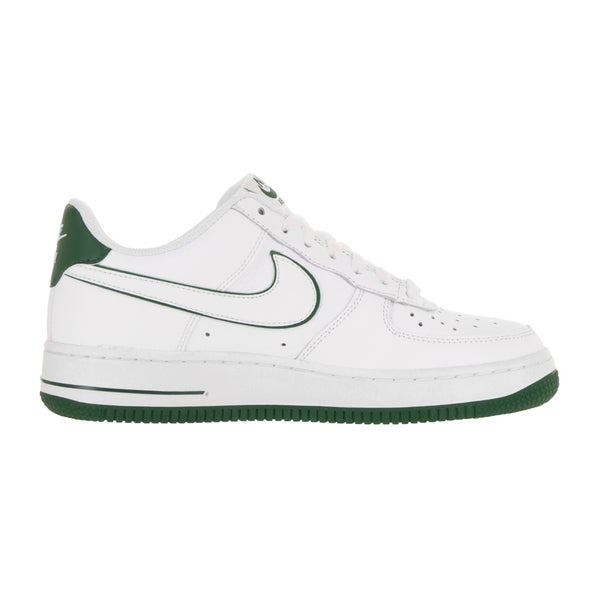 Shop Nike Kids Air Force 1 GS WhiteWhiteGorge Green