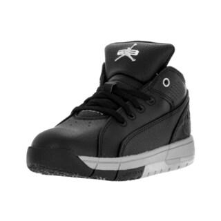 Nike Jordan Kids' Jordan Ol' School Low Black and Metallic Silver Synthetic Leather Basketball Shoes