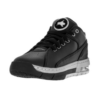 Nike Jordan Kids' Jordan Ol'School Low Black and Silver Synthetic Leather Basketball Shoes