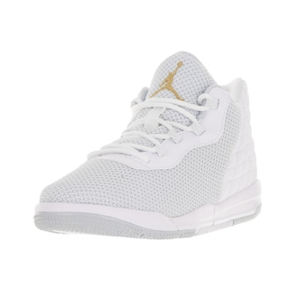 Nike Jordan Kids' Jordan Academy White and Gold Plastic Basketball Shoes