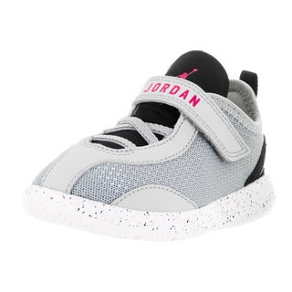 Nike Jordan Kids' Jordan Reveal Wolf Grey, Vivid Pink, Black, and White Synthetic Basketball Shoes