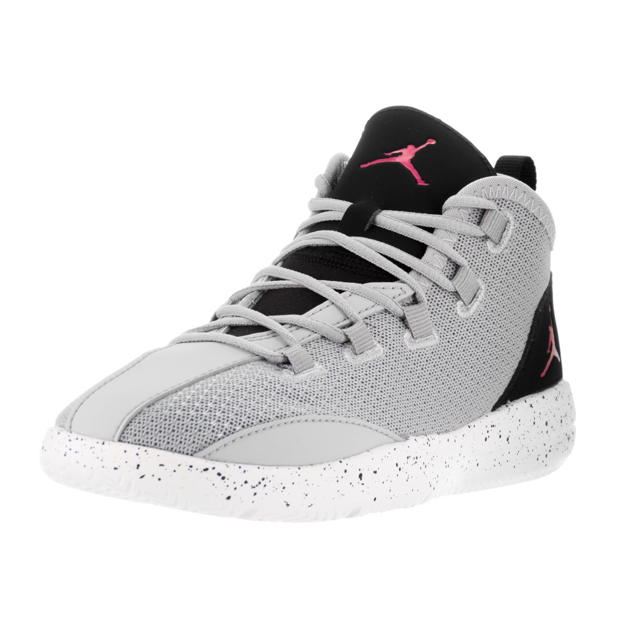 hot sales 7494c a2daf Shop Nike Jordan Kids  Jordan Reveal Wolf Grey, Vivid Pink, Black, and  White Basketball Shoes - Free Shipping Today - Overstock - 13394456