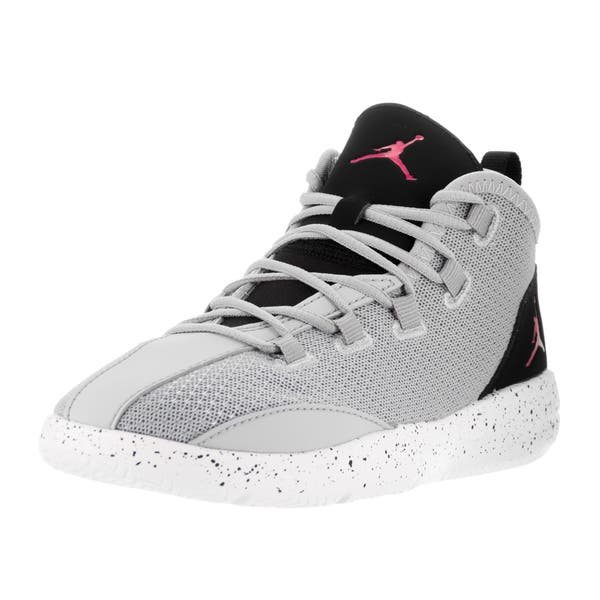reputable site 223f3 51a51 Shop Nike Jordan Kids' Jordan Reveal Wolf Grey, Vivid Pink ...