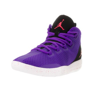 Nike Jordan Kids' Jordan Reveal Purple, Black, and White Plastic Basketball Shoes