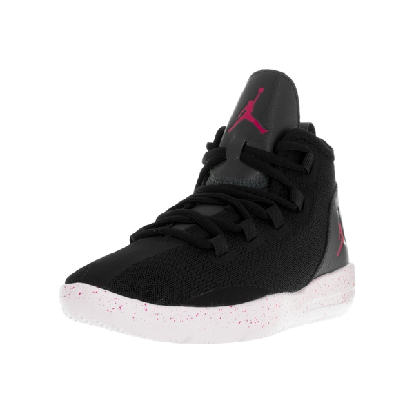 Shop Nike Kid s Jordan Reveal Black White Plastic Basketball Shoes - Free  Shipping Today - Overstock - 13394465 d7626c3c9