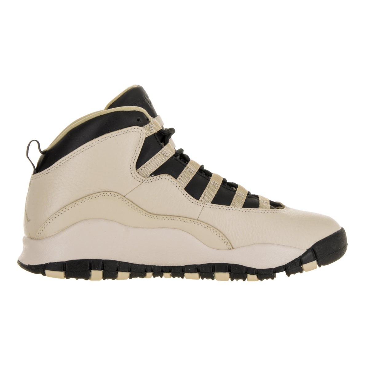 63b7c1c51801bb Shop Nike Jordan Kids  Jordan 10 Retro Beige and Black Leather Basketball  Shoes - Free Shipping Today - Overstock - 13394506 - 6