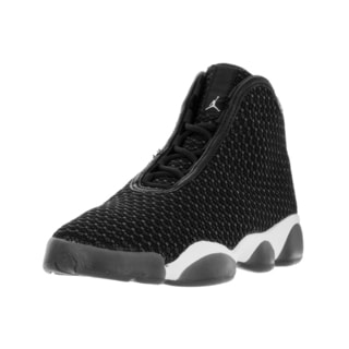 Nike Jordan Kids' Jordan Horizon Black, White, and Dark Grey Textile Basketball Shoes
