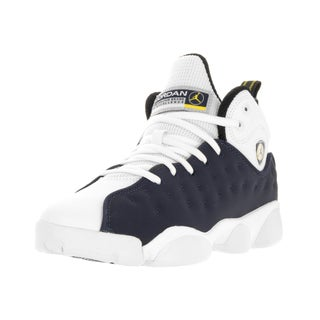 Nike Kid's Jordan Jumpman Team II Navy/White Leather Basketball Shoes