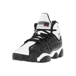 Nike Jordan Kids' Jordan Jumpman Team II Black and White Varsity Red Leather Basketball Shoes