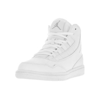Nike Kid's Jordan Executive White/Wolf Grey Leather Casual Shoes