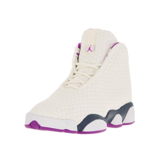 Nike Jordan Kids' Jordan Horizon White, Grey, and Purple Textile Basketball Shoes