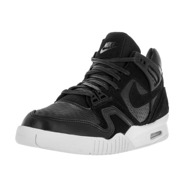 54e4c247cb6 Shop Nike Men s Air Tech Challenge II Laser Black Black White Tennis ...