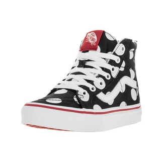 Vans Kids Sk8-Hi Polka Dots Black/Fiery Red Skate Shoe