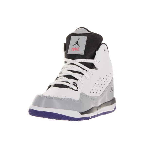 best service 9f255 9f48e Nike Jordan Kids White Synthetic Leather Basketball Shoe