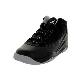 Nike Jordan Kids' Jordan Prime Flight (PS) Black/White/Wolf Grey Basketball Shoe